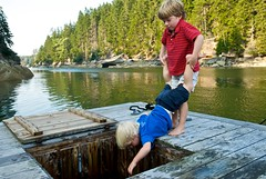 that's what [little] brothers are for (Ben McLeod) Tags: ocean dock brothers maine liam 1755mmf28g campbell vinalhaven livewell afsdxzoomnikkor1755mmf28gifed