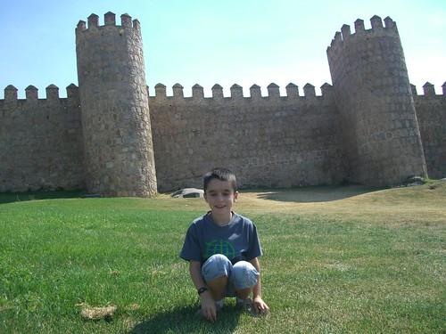 I en aquesta hi surto jo davant les muralles d'Àvila.