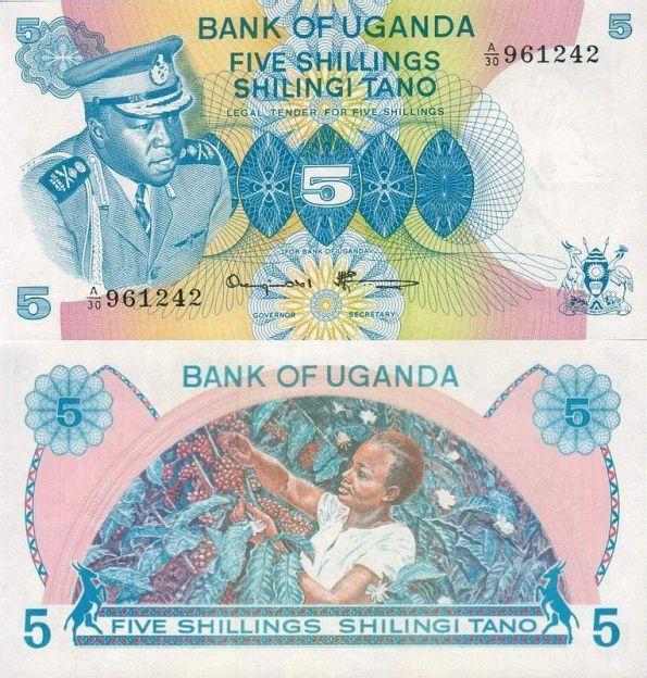 5 šilingov Uganda 1973