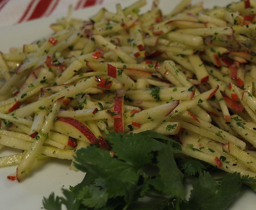 apple slaw with cilantro-lime vinaigrette