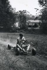Off Road (shiphome) Tags: film me 35mm concentration trix 14 memories 1984 summerfun nikonfg homedeveloped seriousexpression haulinass andyouth isallabout firstprints fgfriday kickingupdust becausethatswhatthefgseries onthegocart