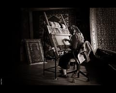 turqua (Javier Torres...) Tags: viaje bw alfombra shop canon turkey carpet mujer trkiye turkiye istanbul bn gran javier turquia torres estambul turchia turkei gaes telar granbazar miradafavorita