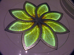 Mosaic flower (Roving I) Tags: flowers art architecture buildings design religion mosaics tiles abudhabi interiordesign mosques sheikhzayed