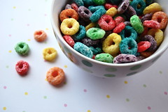 froot loops (sevenworlds16) Tags: breakfast cereal polka dot loops 365 froot coloful project3661 2009yip 3652009