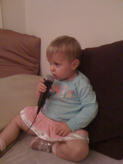 Ella playing rockband
