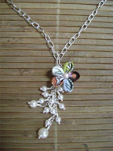 Hana kanzashi necklace