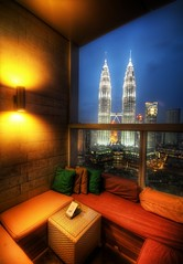 An Open Air Lounge in Kuala Lumpur (Stuck in Customs) Tags: lighting travel urban color bar skyscraper photography hotel design la march high twins nikon asia downtown open view dynamic stuck air south lounge petronas towers indoor east valley malaysia greater nightlife kuala kualalumpur top100 southeast intimate relaxed 2008 range kl luxury chill hdr trey klang petronastowers openair customs shangri comfy lampur skybar traders tradershotel ratcliff shagrila d2xs stuckincustoms traders