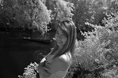 Usa At Riverside In Monochrome Infrared (aeschylus18917) Tags: red portrait woman usa tree cute girl beautiful smile river pose landscape ir thailand model nikon scenery pretty d70 nikond70 surreal canoe jungle thai infrared nikkor infra 1870mm buriram phanomrung f3545g isan 1870 赤外線 ราชอาณาจักรไทย 1870f3545g prakhonchai nangrong prasathinphanomrung บุรีรัมย์ อีสาน ダニエル ratchaanachakthai ปราสาทหินเมืองต่ำ nikkor1870f3545g prasathinmueangtam danielruyle aeschylus18917 danruyle druyle ปราสาทหินพนมรุ้ง นางรอง ルール ダニエルルール ประโคนชัย 1870mmf3545gifdx prasathinmuangtum stonecastleofthehumblecity nikkor1870f3545gdx