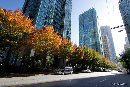 Downtown Vancouver in Autum by you.