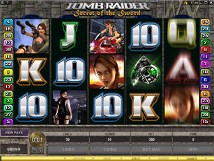 Tomb Raider - Secrets of the Sword slot game online review
