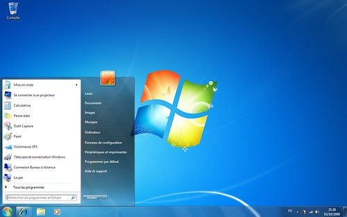Bureau Windows 7