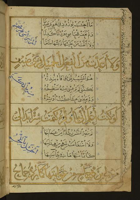 Illuminated Manuscript Poem in Honor of the Prophet Muhammad Walters Art Museum Ms W581 fol4b by Walters Art Museum Illuminated Manuscripts