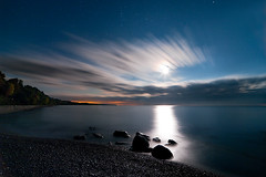 K20D3499 (Bob West) Tags: longexposure nightphotography moon ontario night lakeerie cloudy greatlakes nightshots startrails southwestontario bobwest k20d pentax1224
