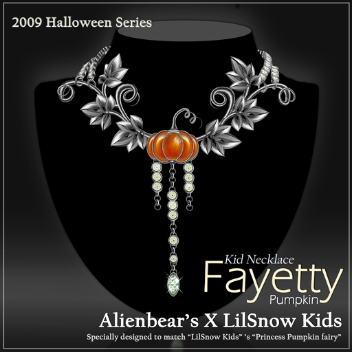 Fayetty Pumpkin kid necklace