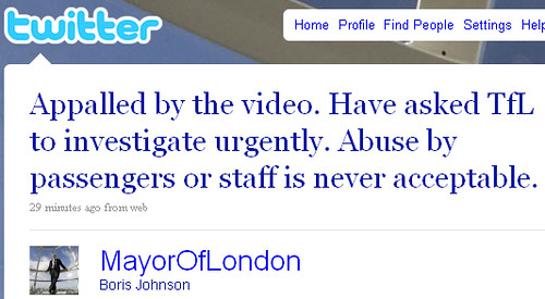 Boris Johnson appalled by video