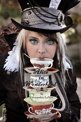 The Mad Hatter (Alexandria LaNier) Tags: life party hot anime girl beautiful fashion fairytale youth vintage dark real costume eyes time tea designer gothic emo culture style scene teen fantasy getty rave trend storybook madhatter gettyimages aliceinwonderland steampunk alexandrialanier