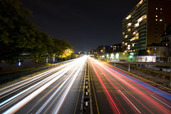 Storrow Drive (Amar Raavi) Tags: longexposure light boston highway traffic massachusetts perspective newengland overpass wideangle parkway esplanade lighttrails expressway copley backbay amar beantown traffictrails storrowdrive sigma1020mm raavi pedestrainoverpass canoneos40d amarraavi storrowmemorialdrive jamesjacksonstorrowmemorialdrive