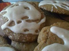 Ginger cookies with cinnamon vanilla glaze