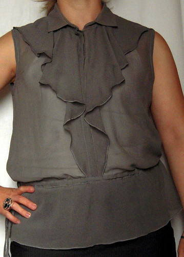 Sleeveless Blouse with Flounce from BWOF