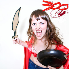 300/365 October 27, 2009 (laurenlemon) Tags: movie interestingness cape warrior 365 300 fryingpan spartan myfavoritethings october09 cardboardsword 365days explored canoneos5dmarkii laurenrandolph laurenlemon lotsoframbling aboutartandpeopleandphotos