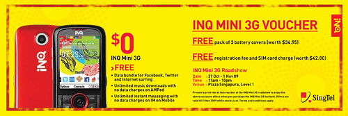 Print out this e-voucher and Meet Dai Yang Tian at INQ Mini Roadshow
