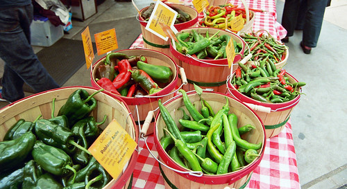 chiles at the farmers market