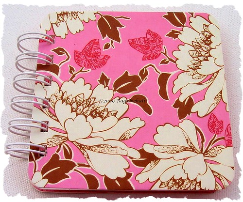 Amy Butler Pink Brown Post It Organizer