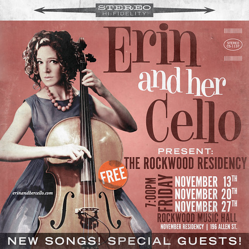 Erin and Her Cello Residency at Rockwood