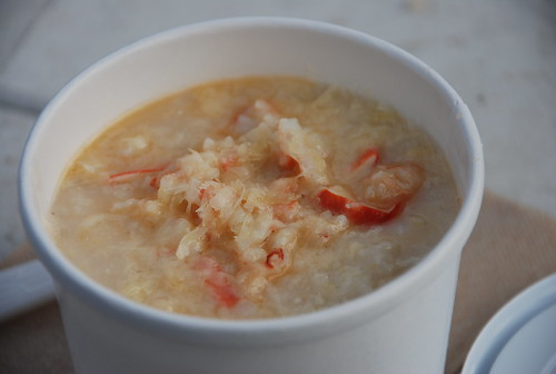 lobster grits from the Red Hook Lobster Pound at the Brooklyn Flea