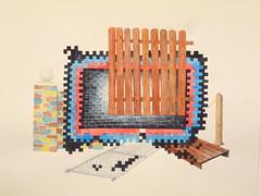 """General construction"" 2009 Chobbs (charleswesleyhobbs) Tags: art watercolor charles hobbs"