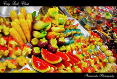 Cuty Luk Chup /     (AmpamukA) Tags: colour animal fruit dessert natural bean desserts thai don flour shape luk mung   kanom chup    whai  ampamuka