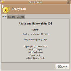 Geany text editor