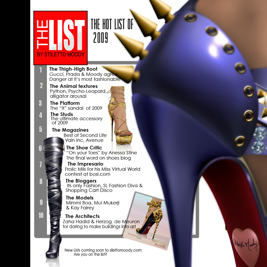 Stiletto Moody - The Hot List 2009