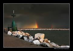 Over the Light (marcowind) Tags: sea italy beach water colors canon landscape rainbow italia nuvole mare porto fishermans arcobaleno abruzzo abruzzi pescatori giulianova bellabruzzo alemdagqualityonlyclub