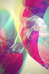 future pilot (nnvrmndd) Tags: portrait hot girl digital photography flying kid rainbow neon air balloon blond blonde indie chidhood