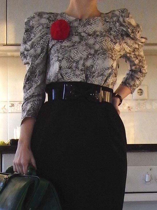 snake blouse