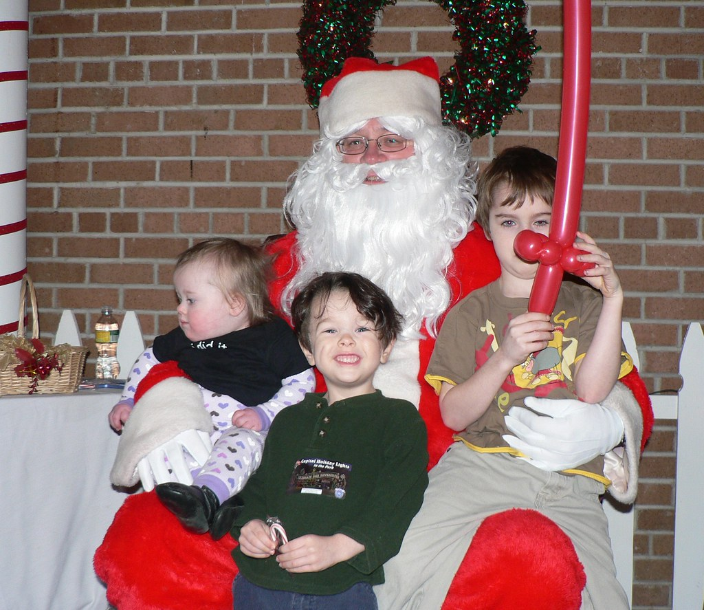 Santa and the kids