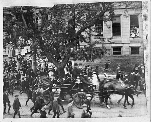 President William McKinley visits Council Bluffs, IA.