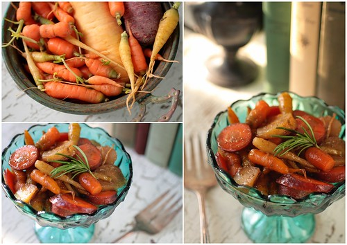 Cumin Rosemary Glazed Carrots and Parsnips
