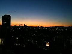 見事な夕焼け