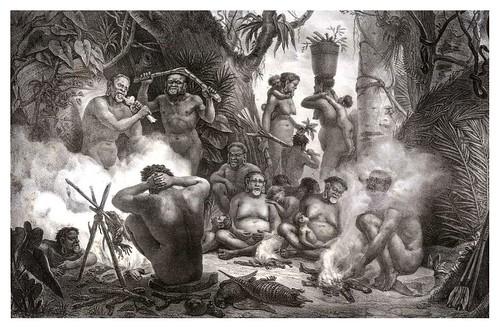 028-Botocudos-Buris-Patachos y Macharis-Voyage pittoresque et historique au Brésil- Jean Baptiste Debret 1834-1839