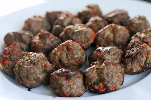 Sundried Tomato and Red Pepper Meatballs, and an Easy-Peasy Appetizer ...