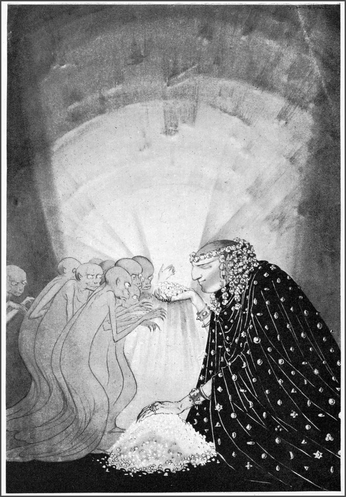 "Sidney Sime - ""Time And The Gods"" Front Piece (1906)"