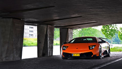 Lurkin' In The Shadows (Thomas van Rooij) Tags: lighting orange cars netherlands dutch car dark photography italian nikon utrecht photoshoot thomas awesome nederland overpass tunnel automotive super bull exotic nikkor lamborghini supercar sv exotics supercars murcielago 18105 fotoshoot veloce d90 hypercar rooij superveloce lp6704 thomasvanrooij lp67