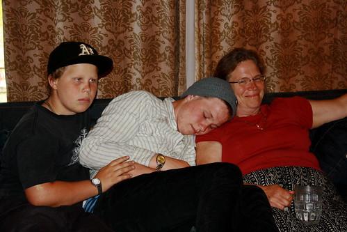 Daniel, James, Mom