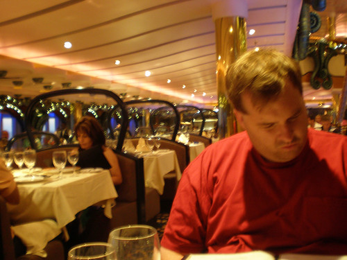 Mike Considering the Menu (Carnival Splendor)