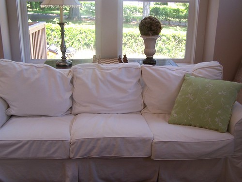 The Pottery Barn Basic Slipcovered Sofa Saga <br>& Confessions