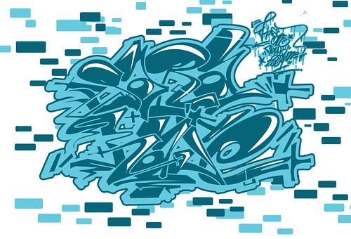 el abecedario en graffiti. abecedario de graffiti