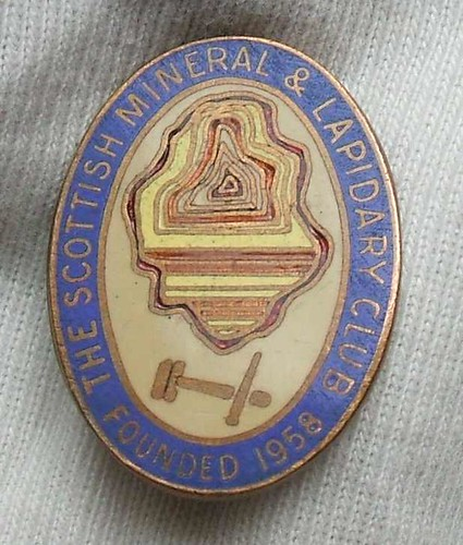 Scottish Mineral & Lapidary Club membership badge, 1960's