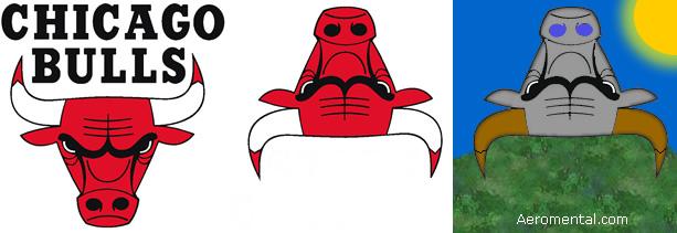 Thumb La conspiración del logo de Chicago Bulls y el robot leyendo un libro